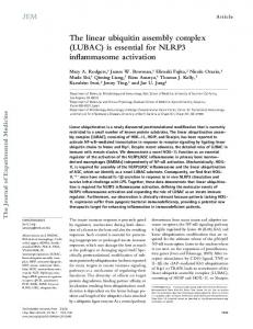 (LUBAC) is essential for NLRP3 inflammasome activation