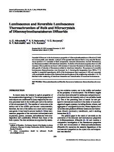 Luminescence and Reversible Luminescence Thermochromism of ...