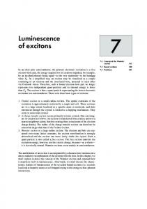 Luminescence of excitons