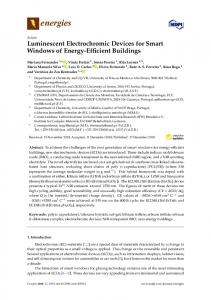 Luminescent Electrochromic Devices for Smart Windows of ... - MDPI