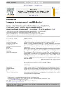 Lung age in women with morbid obesity
