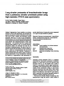 Lung alveolar proteomics of bronchoalveolar ... - Semantic Scholar