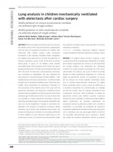 Lung analysis in children mechanically ventilated