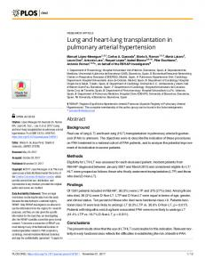 Lung and heart-lung transplantation in pulmonary ... - Semantic Scholar