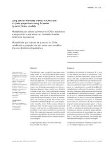 Lung cancer mortality trends in Chile and six-year