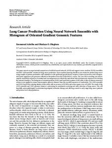 Lung Cancer Prediction Using Neural Network Ensemble with