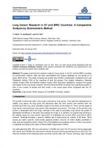 Lung Cancer Research in G7 and BRIC Countries - Open Access ...