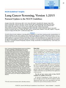 Lung Cancer Screening, Version 1.2015