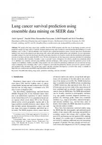 Lung cancer survival prediction using ensemble data mining on SEER