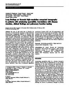 Lung findings on thoracic high-resolution computed tomography in ...