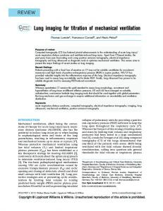 Lung imaging for titration of mechanical ventilation