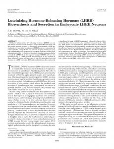 Luteinizing Hormone-Releasing Hormone (LHRH) Biosynthesis and ...