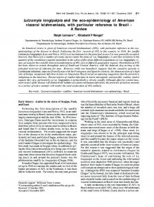 Lutzomyia longipalpis and the eco-epidemiology of ... - SciELO