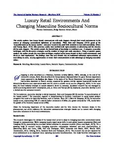 Luxury Retail Environments And Changing Masculine ...