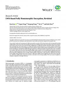 LWR-Based Fully Homomorphic Encryption, Revisited
