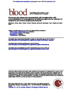 lymphoma and chronic lymphocytic leukemia ...