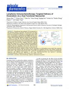 Lymphoma immunochemotherapy: targeted delivery of doxorubicin via ...