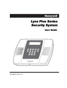 Lynx Plus Series Security System User Guide
