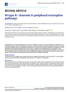 M-type K+ channels in peripheral nociceptive