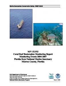 M/V ELPIS Coral Reef Restoration Monitoring Report Monitoring ...