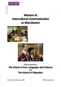 MA IC Introductory Booklet (June 2012) - Intercultural - The ...
