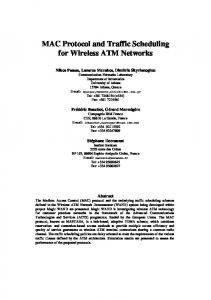 MAC Protocol and Traffic Scheduling for Wireless ATM ... - CiteSeerX