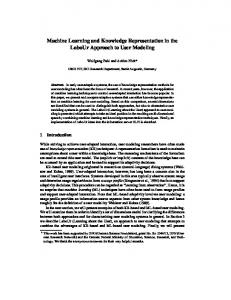 Machine Learning and Knowledge Representation in the LaboUr ...