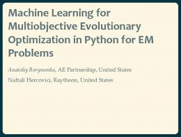 Machine Learning for Multiobjective Evolutionary Optimization in
