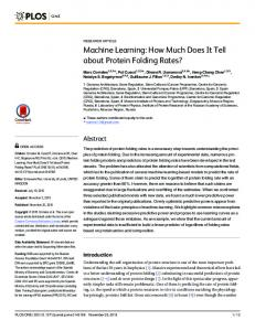 Machine Learning: How Much Does It Tell about ... - Semantic Scholar