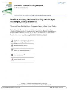 Machine learning in manufacturing: advantages ...