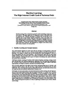 Machine Learning: The High-Interest Credit Card of Technical Debt