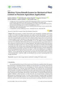 Machine Vision Retrofit System for Mechanical Weed Control ... - MDPI