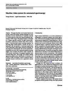 Machine vision system for automated spectroscopy - Springer Link