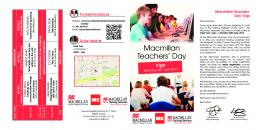 Macmillan Teachers' Day - Macmillan ELT