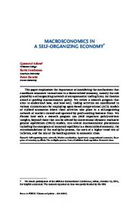 Macroeconomics in a self-organizing economy - OFCE