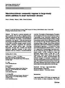 Macroinvertebrate community response to large-woody ... - Springer Link