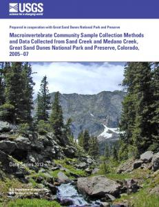 Macroinvertebrate community sample collection methods and data ...