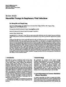 Macrolide Therapy in Respiratory Viral Infections