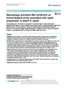 Macrophage activation-like syndrome: an ... - BMC Medicine