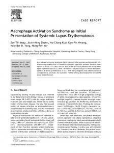 Macrophage Activation Syndrome as Initial Presentation of ... - Core