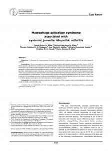Macrophage activation syndrome associated with ... - Semantic Scholar