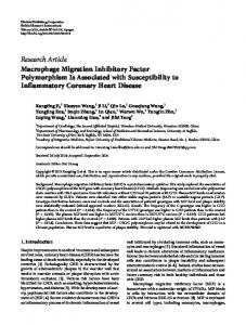 Macrophage Migration Inhibitory Factor Polymorphism Is Associated ...