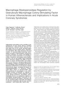 Macrophage Myeloperoxidase Regulation by Granulocyte ...