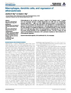 Macrophages, dendritic cells, and regression of ... - BioMedSearch