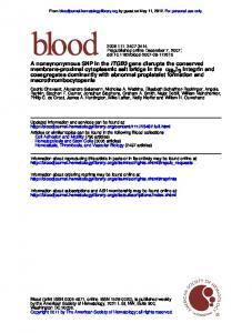 macrothrombocytopenia cosegregates dominantly with ... - ORBi lu
