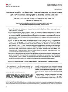 Macular Choroidal Thickness and Volume ... - Semantic Scholar