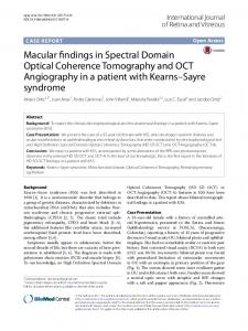 Macular findings in Spectral Domain Optical Coherence Tomography ...