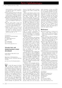 Macular hole and rhegmatogenous retinal ... - Wiley Online Library
