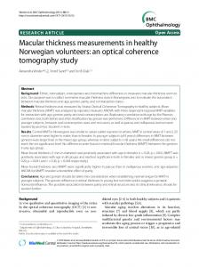 Macular thickness measurements in healthy Norwegian volunteers: an ...