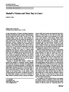 Madoff's Victims and Their Day in Court - Springer Link